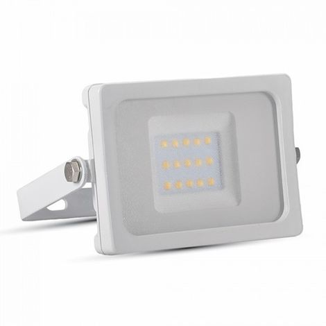 Foco proyector led 10W SMD Super Slim Serie Shiny Blanco