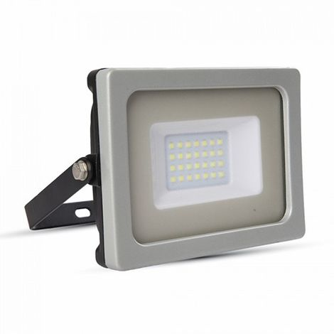 Foco proyector led 20W SMD 100° Super Slim Serie Shiny Gris/Negro