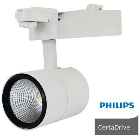 Foco proyector LED 40W PHILIPS Driver 3600LM para carril monofásico