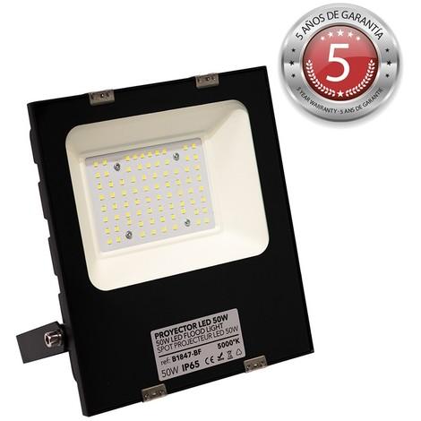Foco proyector LED 50W 5500lm IP65 - 5 años de garantía