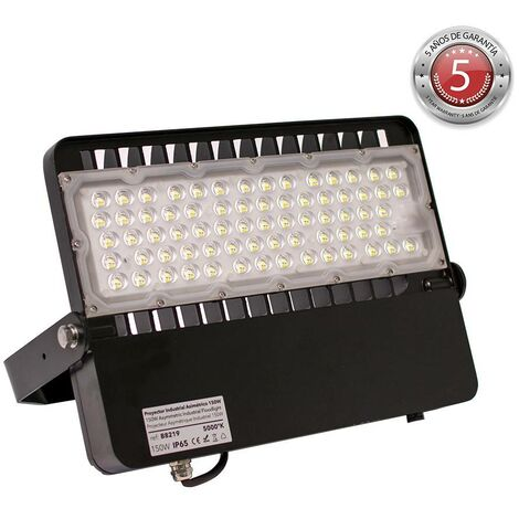 Foco proyector LED asimétrico 150W 19500lm IP65 - 5 años de garantía