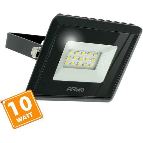 Foco Proyector LED ATRIA 10W Negro IP65 Exterior