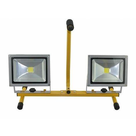 Foco proyector LED DOBLE suelo JF8100-20W 2x20W 2x1400 lumens METALWORKS