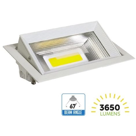 Foco Proyector led empotrable rectangular 33W 67° direccionable