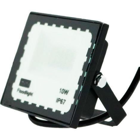 Foco Proyector LED Exterior SMD WhiteBlack 10W Blanco Frío 6000K | IluminaShop