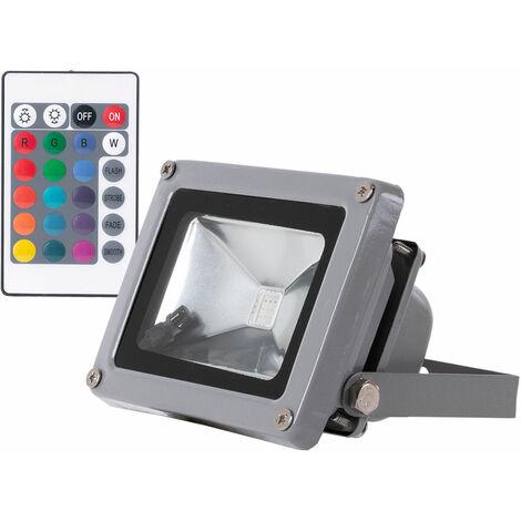 Foco Proyector LED IP65 10W RGB Mando a Distancia   RGB (JWSFL10RGB)