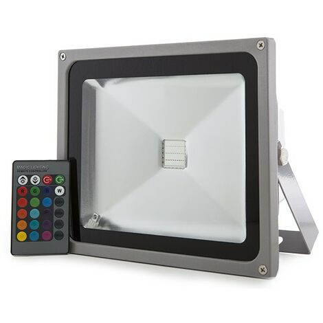 Foco Proyector LED IP65 20W RGB Mando a Distancia | RGB (JWSFL20RGB)