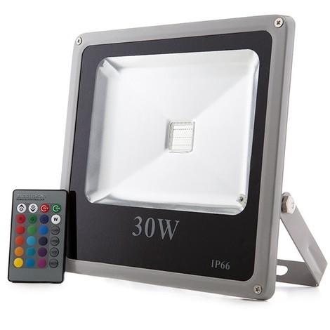 Foco Proyector LED IP65 30W RGB Mando a Distancia | RGB (HX-FL30-RGB)