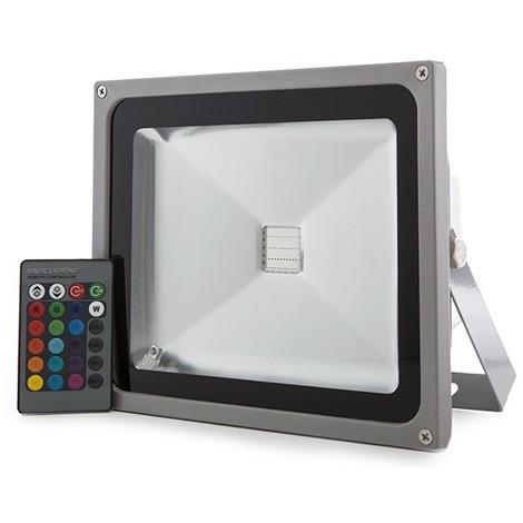 Foco Proyector LED IP65 30W RGB Mando a Distancia | RGB (JWSFL30RGB)