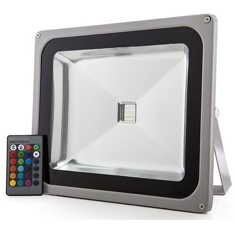Foco Proyector LED IP65 50W RGB Mando a Distancia | RGB (JWSFL50RGB)