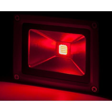 Foco Proyector LED IP65 Brico 10W 850Lm 30.000H Rojo | Rojo (BQFS11510-R)