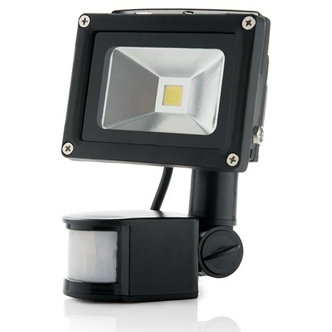Foco Proyector LED IP65 Detector Movimiento 10W 850Lm 30.000H | Blanco Natural (BQFS11510W-PIR)