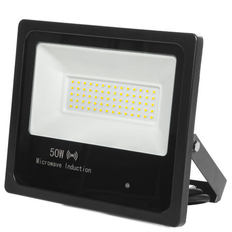 Foco Proyector LED IP65 Detector Movimiento Integrado 50W 30.000H