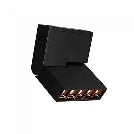 Foco Proyector LED magnético para carril Real Color Series 10W 30° Negro Temperatura de color - 3000K Blanco cálido