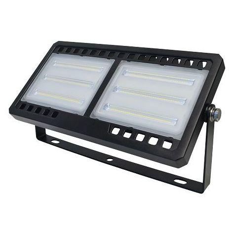 Foco Proyector led plano SMD luz blanca Negro 150W