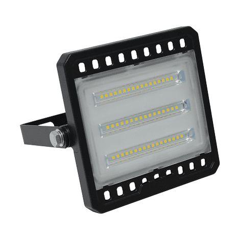 Foco Proyector led plano SMD luz blanca Negro 30W