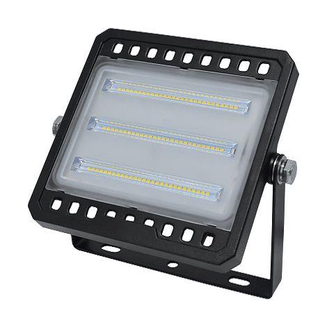 Foco Proyector led plano SMD luz blanca Negro 50W