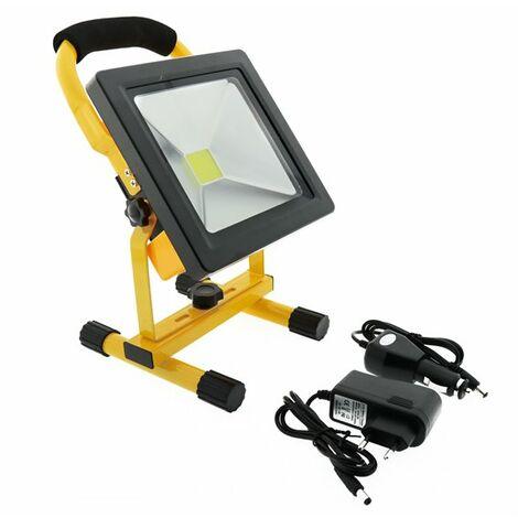 Foco proyector LED portátil con batería 20W Blanco Frío 6000K | IluminaShop