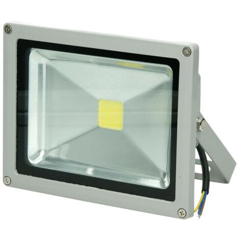 Foco proyector LED reflector lámpara exterior 20W luz fría 6000K para exterior