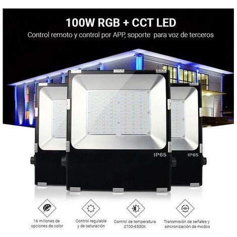 Foco proyector LED RGB+CCT 50W 4200lm - control por RF y WiFi - IP65