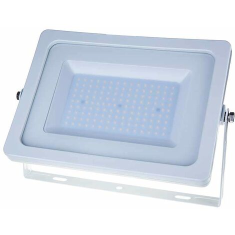 Foco proyector LED SMD 100W 100° Super Slim Serie Shiny Blanco