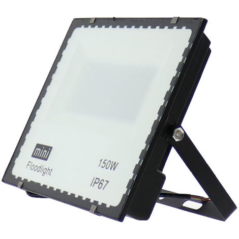 Foco proyector LED SMD WhiteBlack 150W Blanco Frío 6000K   IluminaShop