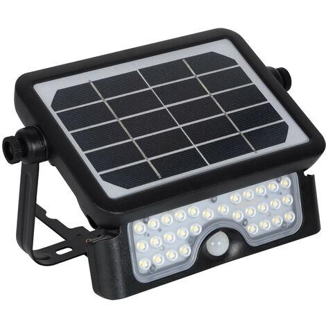 "main image of ""Foco Proyector LED Solar 5W IP65 con Sensor de Movimiento PIR Blanco Neutro 4000K - Blanco Neutro 4000K"""