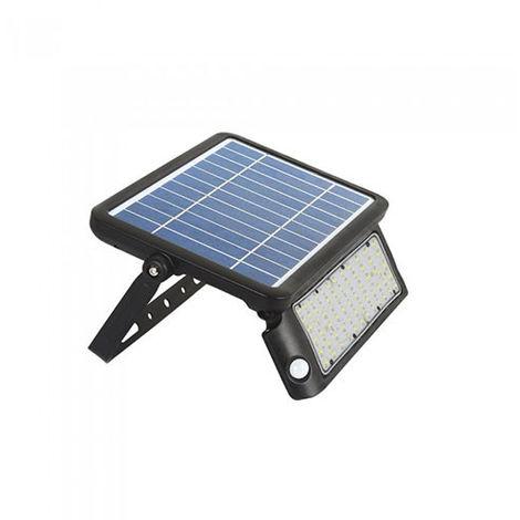 Foco proyector LED SOLAR con sensor PIR 4000K 10W Negro