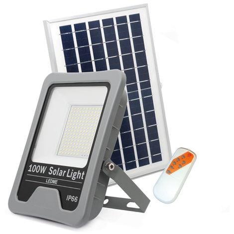 Foco Proyector LED Solar Profesional 100W IP66 Blanco Frío 6000K | IluminaShop