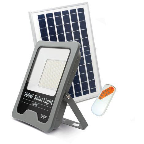 Foco Proyector LED Solar Profesional 200W IP66 Blanco Frío 6000K   IluminaShop