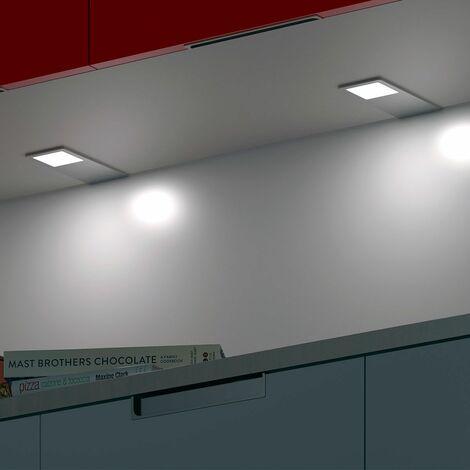 Foco Rectangular sobrep. Led Aylin 5W-12V Luz Fria - Cromo Look