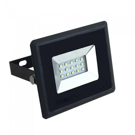 Foco reflector LED 10W negro IP65 para exteriores | Blanco frío 6400K