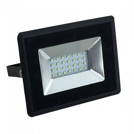 Foco reflector LED 20W negro IP65 para exteriores