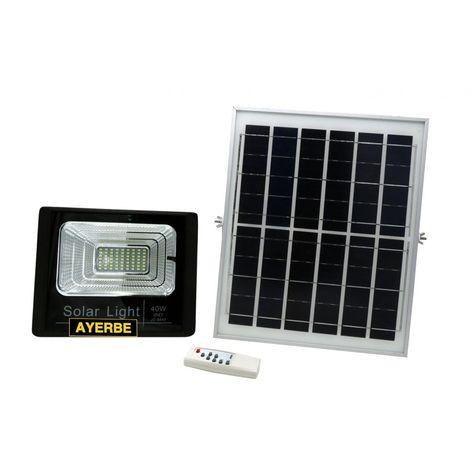 Foco solar 40w 64led ayerbe ne mando distancia 620635