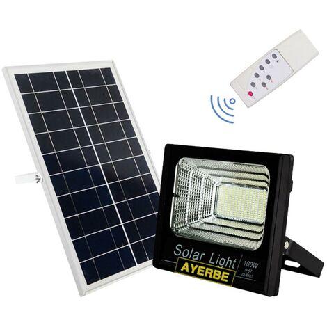 Foco Solar Mando Distancia 100W 120Leds Negro Ayerbe