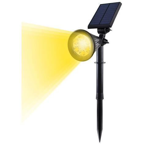 Foco solar para jardin, con sensor de movimiento