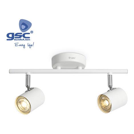 Foco techo doble lineal GU10 Blanco
