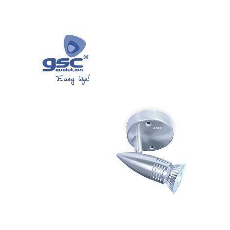 Foco techo halógeno 50W GU10 - Níquel Satín