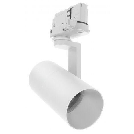 Foco técnico blanco para carril de luz GU10 (Spectrum SLIP003008)