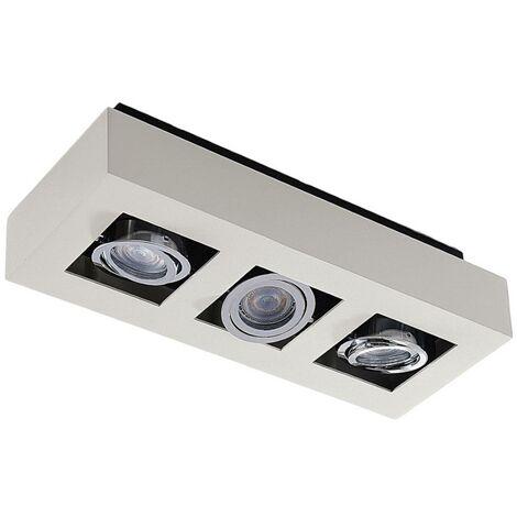 FocoLED de techoVince blanco, 3puntos de luz