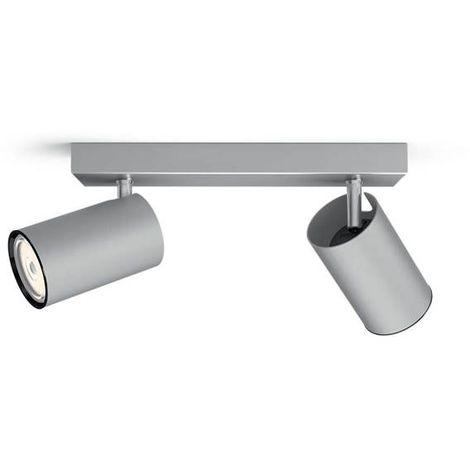 """Focos """"Kosipo"""" 2 X Gu-10 Aluminio 5059248Pn"""
