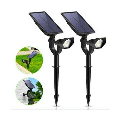 Focos LED Solares con sensor 2W | Blanco frío 6000K