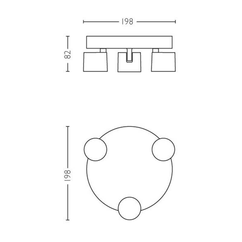 luz blanca c/álida E27 Philips myLiving Plaf/ón de ba/ño 95 W