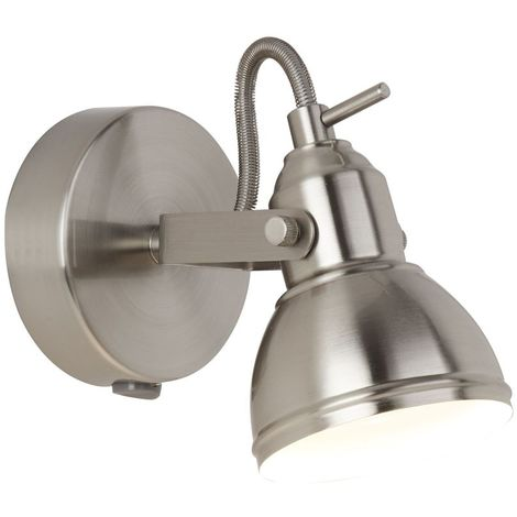 FOCUS - 1 LIGHT SATIN SILVER INDUSTRIAL SPOTLIGHT