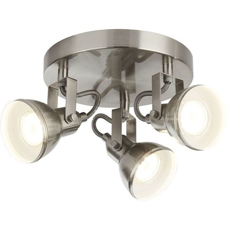 FOCUS - 3 LIGHT SATIN SILVER INDUSTRIAL SPOTLIGHT DISC