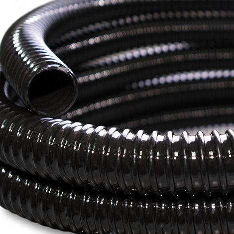 Meterware Qualitäts Teichschlauch 25mm Ø Spiralschlauch Pumpen-Filterschlauch