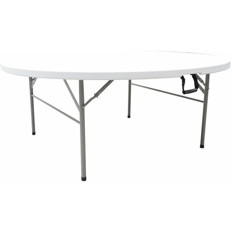 Fofo Centre Fold Round Plastic Folding Table 4Ft -122Cm