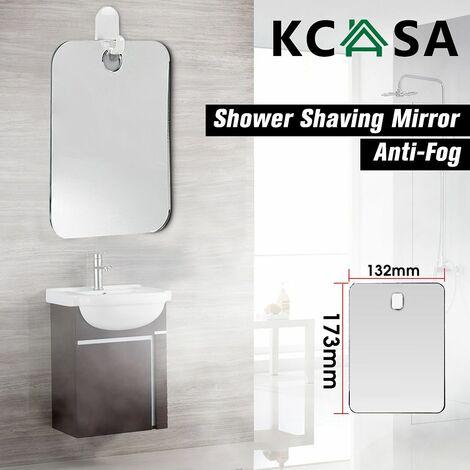 Fogless Mirror Bathroom Makeup Reflection Glass Shower Shaving WASHED