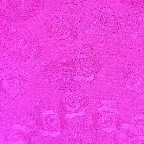 Foil Effect Floral Wallpaper Metallic Purple Flower Oriental Traditional