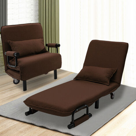 Fold Out Single Guest Z Chair Bed Recliner Futon Chair Armchair Folding Sofa Bed